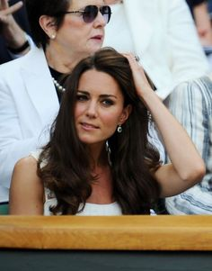 Wimbledon 2011 - Catherine, Duchess of Cambridge and Prince William attend the match between Andy Murray and Richard Gasquet Kate Middleton Hair, Princess Kate Middleton, Kate Middleton Photos, Prince William And Kate, William Kate, Wimbledon 2011, Princess Charlotte, Princess Diana, Princess Katherine