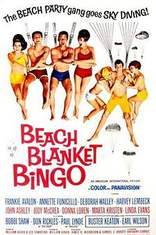 Beach Blanket Bingo is an American International Pictures beach party film, released in 1965 and was directed by William Asher. It is the fifth film in the beach party film series. The film starred Frankie Avalon and Annette Funicello and also featured cameos by Paul Lynde, Don Rickles and Buster Keaton.