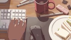 Animated gif about gif in Anime by ibtissam kasmi Aesthetic Gif, Aesthetic Videos, Aesthetic Pictures, Aesthetic Drawings, Aesthetic Wallpapers, Anime Gifs, Anime Art, Studying Gif, Pixiv Fantasia