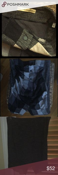 Authentic, Balenciaga Vintage Tube Top!! Authentic, Vintage, Balenciaga, European Size 40, Button Down Tube Top. I Originally Thought this was a Skirt (& depending on ur size, it still sorta could b worn that way) it has one small Button on Top Inside (Photo#1) & Black Snap Buttons going down the center. (Photo#s:2&4) it is Black, Gray, & White Checkered in the Front & Solid Gray in the Back (photo#:3) Awesome, Authentic, Vintage, Couture Piece..Very Versatile! Always Open to Reasonable…