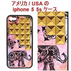 wildflower ワイルドフラワー アメリカ エレファント スタッズ Elephant Gold Pyramid iPhone 5 5s SE Case アイフォン ファイブ エス ケース スタッツ エスイー 在庫限り 象さん すまふぉ すまほけーす スタッズケース aiphone5s アイフォンエスイー 海外 ブランド