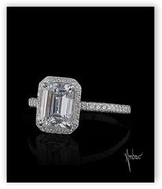 Bez Ambar emerald cut engagement ring.  Available at Alson Jewelers.