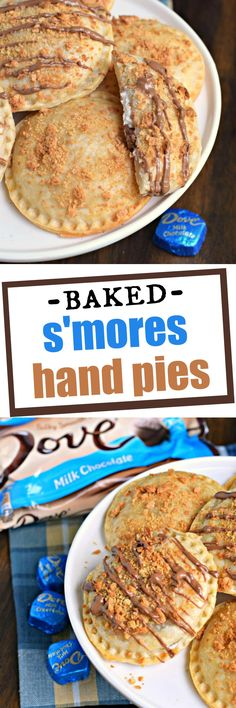 No campfire needed for these Ooey Gooey BAKED S'mores Hand Pies! They're filled with marshmallow cream and silky smooth DOVE® Milk Chocolate PROMISES and topped with a crunchy graham coating. Who can resist? @DoveChocBrand #sponsored