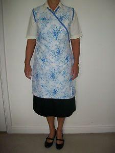 Vintage 50's style Hilda Ogden/Nora Batty wrap around apron/pinny/pinafore