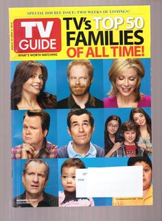 Vintage TV Guide Covers   TV Guide Magazine March 22 2010 Top 50 Families of All Time Modern ...