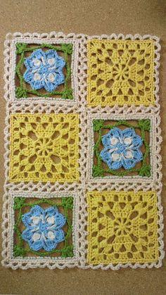 『かぎ針編み コサージュ付き小物DN2』