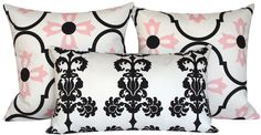 Pink Decorative Pillow Throw Cover 12x20 by ChloeandOliveDotCom, $31.50