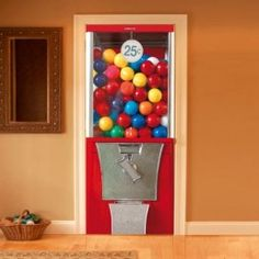 Door decal by Couture Deco.  This would be great in a large room!  It would drive my kids crazy!