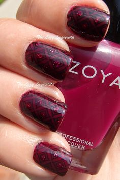 The Lazy Laquerista: Stamped Jelly Sandwich Manicure Tutorial