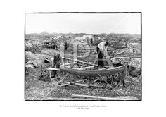 The Flaherty family building boats at Carna, Connemara, County Galway. May 1959 see more photos at: www. Ireland Pictures, Images Of Ireland, Fine Art Photo, Photo Art, Black And White Prints, Historical Images, History Photos, Boat Building, Photo Archive