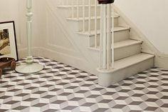 Illusion Grey Tiles - Hackney Optical Tiles Tons of Tiles Grey Floor Tiles, Ceramic Floor Tiles, Bathroom Floor Tiles, Grey Flooring, Floors, Loft Bathroom, Gray Floor, Bathroom Stuff, Bathroom Wall
