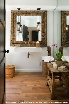 frames for large bathroom mirrors