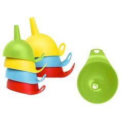 Ikea Chosigt Funnel, Set Of Assorted Colours [Free Ship] Baking Utensils, Kitchen Utensils, Recycling Facility, Ikea Shopping, Salad Spinner, Ikea Family, Filling Station, Sensory Bins, Recycling