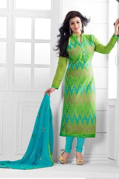 Women's Clothing Indian Designer Georgette Stitched Partywear Teal Green Dress Salwar Kameez Crease-Resistance Clothing, Shoes & Accessories