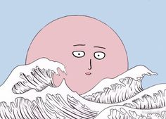 goodnight saitama moon by NotReally
