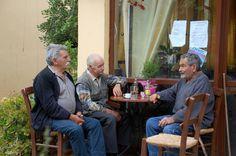 Griekse mannen op Kreta