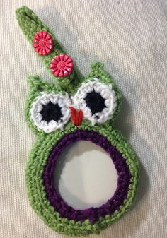 Ravelry: hesterbox's Owl Luggage Tag