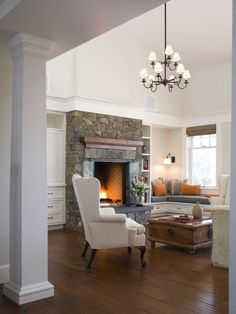 Family Room - fireplace