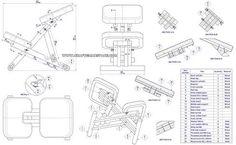 Image result for kneeling chair design plan