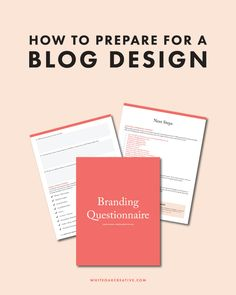 How to prepare for a brand design guide with questions, checklists, prompts, and lots of resources, #free, blog design, brand identity questionnaire