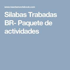 Silabas Trabadas BR- Paquete de actividades