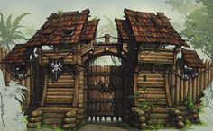 Pirates fort Picture  (2d, architecture, fort, pirates, fantasy)