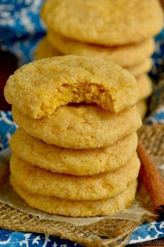 These Pumpkin Sugar Cookies are absolutely amazing! Deliciously soft sugar cookies, full of pumpkin fall flavor! This easy sugar cookies recipe is bound to become a family favorite! Pumpkin Sugar Cookies, Pumpkin Cookie Recipe, Sugar Cookie Recipe Easy, Easy Sugar Cookies, Pumpkin Dessert, Pumpkin Cheesecake, Pumpkin Recipes, Cookie Recipes, Pumpkin Pecan Cobbler