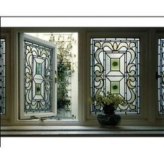 Photographic Print of Edwardian house - Stained glass window from Arcaid Images