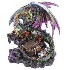 Shop today for Treasure Seeker Dark Legends Dragon Figurine by weeabootique !