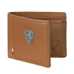 puma ferrari wallet brown