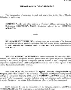 Sample Memorandum of Agreement | Templates&Forms | Pinterest ...