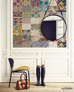 How To Add a Magical Touch To Your Anteroom? Use Wallpaper! #patchwork #collection #myloview