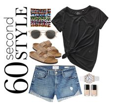 """""""Untitled #17"""" by sarahszejn on Polyvore featuring Birkenstock, Frame, Marc Jacobs and Issey Miyake"""