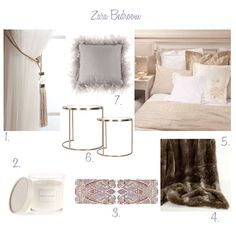 Zara Home - Neutral, feminine bedroom
