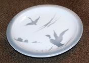 Antique Syracuse China Spray Mist Ducks Plates