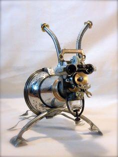 L'acarien géant, robot en métal recyclé. # sculpture # robot # métal recycled # insecte #