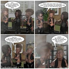 Punksters.net punk rock comic strip number 25 #comic #pot #ganja