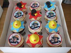 Fireman Sam cupcakes by trulycrumbtious, via Flickr Fireman Sam Cake, Fireman Party, 3rd Birthday, Birthday Parties, Birthday Cakes, Birthday Ideas, Cupcake Cakes, Cupcakes, Cupcake Ideas