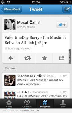 Real Madrid star Mesut Ozil – Valentines day