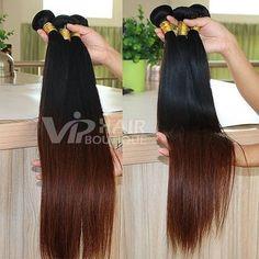 26 Inch Straight Brazilian Ombre Hair Weave Bundles Three Bundles Deal 100% Human Hair Brown Hair Extensions