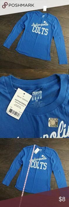 NWT Indy Colts long sleeve women's tshirt sz M NWT Indy Colts long sleeve women's tshirt sz M Junk Food Clothing Tops Tees - Long Sleeve