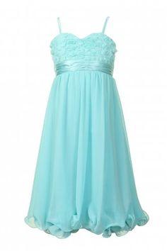 Little MisDress Aqua Floral Top Party Dress (dress option for little sister)