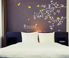 Branch wall decal with flying birds vinyl baby by DreamKidsDecal, $46.00 (Change words to baby sister name)