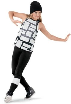 Weissman™   Tank Top with Plaid Shirt & Leggings