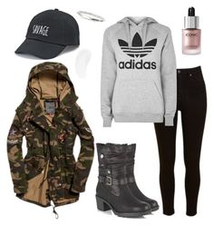 """""""outfit"""" by kwharmony on Polyvore featuring Lee, Lotus, adidas, SO and Temptu"""