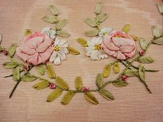 Antique ribbon work