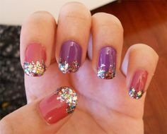 Purple and pink sparkles!