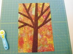 Pinkadot Quilts: Free Pieced Tree Tutorial