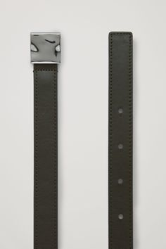 Designed from smooth leather, this belt is perfect for transitioning from day to night. - Polished, uneven metal buckle - Six round holes - Tonal topstitching Cow leather Width: Image Fashion, Metal Buckles, Cow Leather, Smooth Leather, Favorite Color, Belt, Cos, Accessories, Design