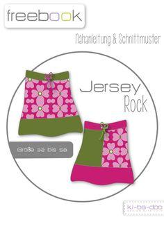 Freebook Basic-Jersey-Rock - Schnittmuster und Anleitung als PDF Datei in A4